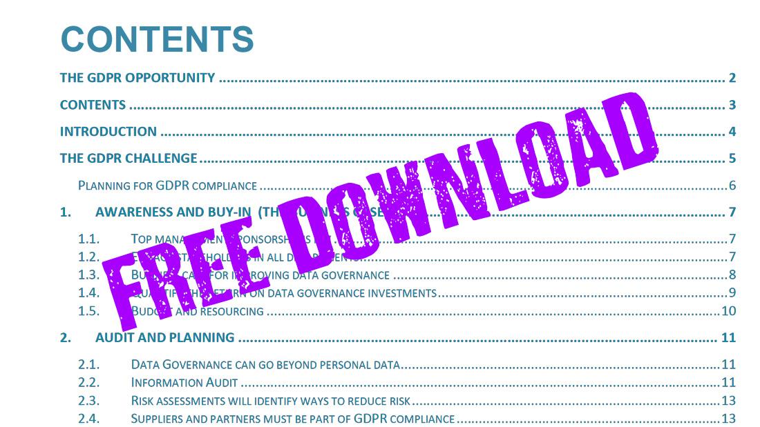 GDPR white paper download Data Steward CTO