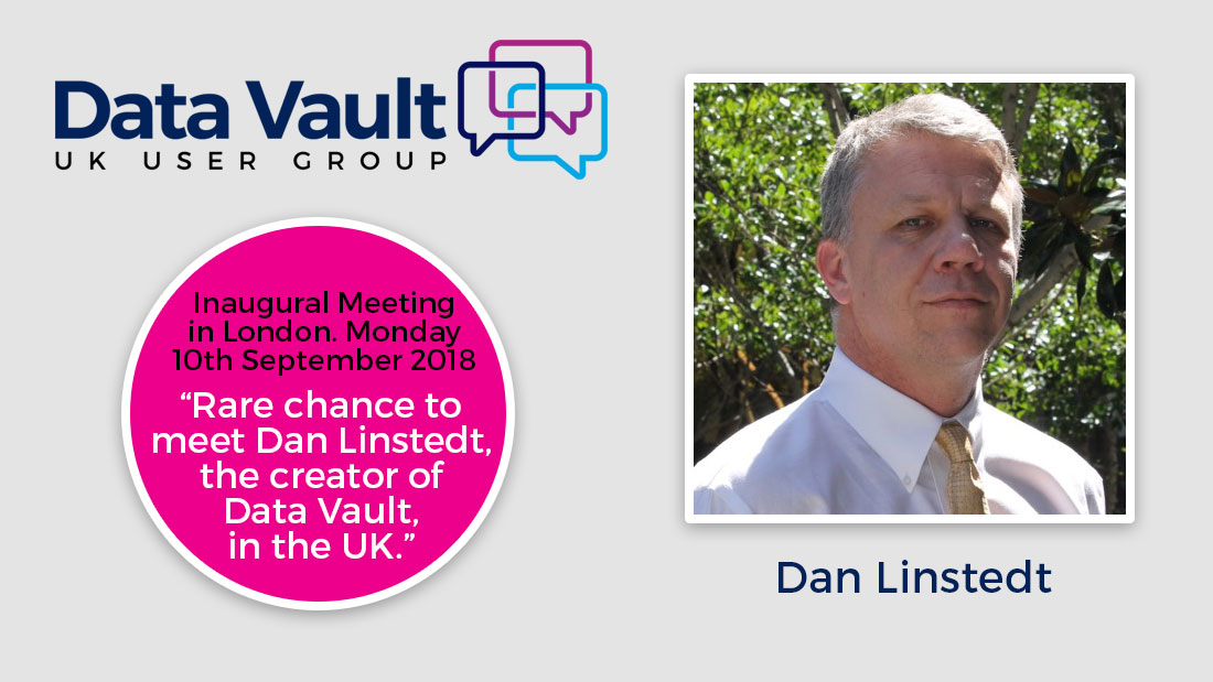 sponsoring the UK Data Vault User Group